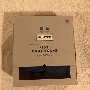 Hunter Kids Boot Socks Size M NWT Blue